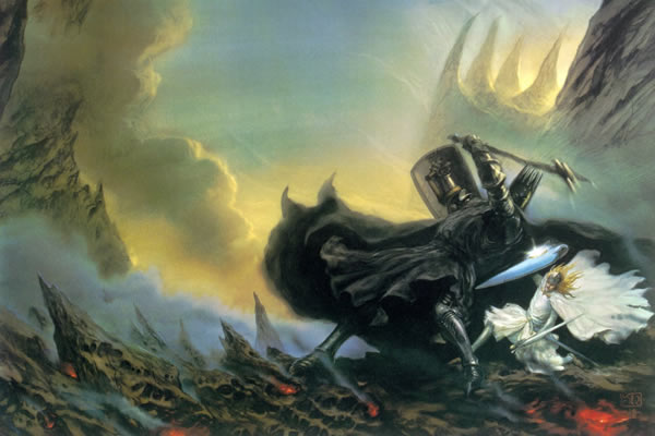 Fingolfin, son of Finwe vs. Morgoth, awarded the 'Most Similar to Satan Award' at the last Valar Reunion.